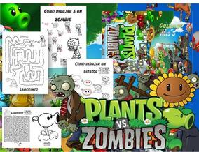 Kit Libritos Plantas Vs Zombies Colorear Pintar Editable S99