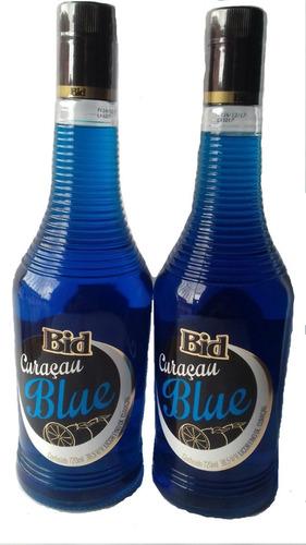 kit licor curacau blue bid+ brinde licor marula bid 880ml