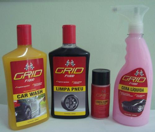 kit limpa carro shampoo limpa pneu gel silicone cera líquida