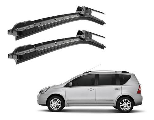kit limpador de parabrisa dianteiro silicone livina 2009/15