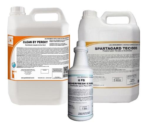 kit limpador de uso geral com 3 detergentes | spartan