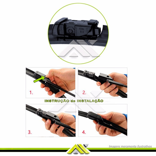 kit limpador para-brisa volkswagen spacefox 2013 em diante