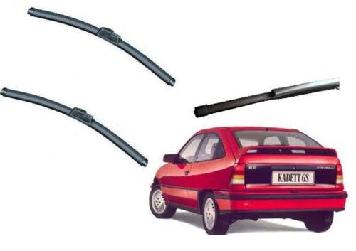 kit limpador parabrisa dianteiro+ traseiro gm kadet