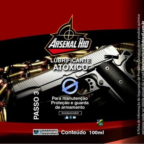 kit limpeza armamento de fogo knockout - 3 frascos de 100ml