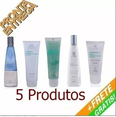 kit limpeza de pele facial profissional peles oleosas/mista