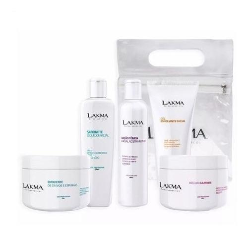 kit limpeza de pele lakma profunda profissional com 5 itens