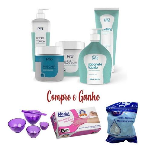 kit limpeza de pele profissional buona vita luva cubeta