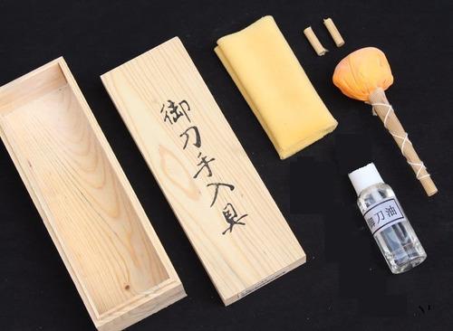 kit limpeza espada katana ninja samurai aço carbono