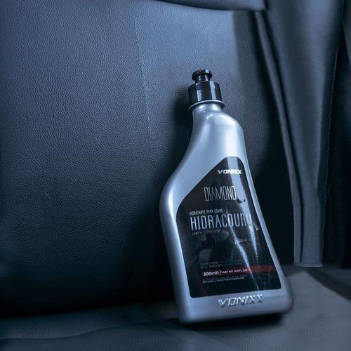 kit limpeza hidratação de couro + aplicador + toalha vonixx