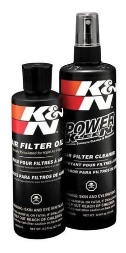 kit limpeza k&n kn  filtros de ar manutençao