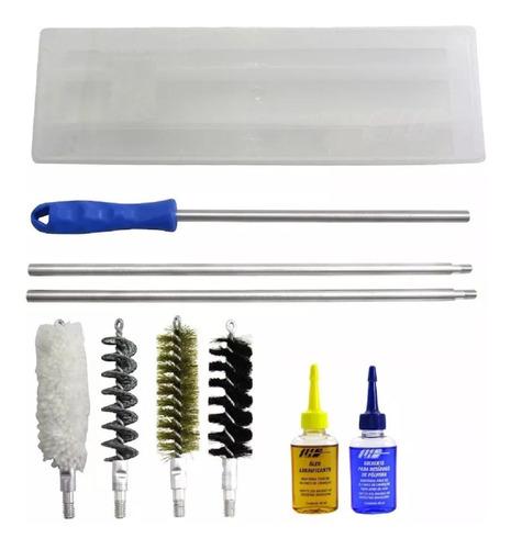 kit limpeza para espingarda escopeta calibre 12