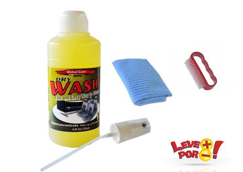 kit limpeza seco lava estofado sofá carpete 120ml faz 2 litr