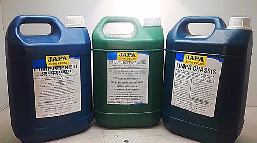 kit limpeza solupan limpa pneu liquido silicone gel 5lt