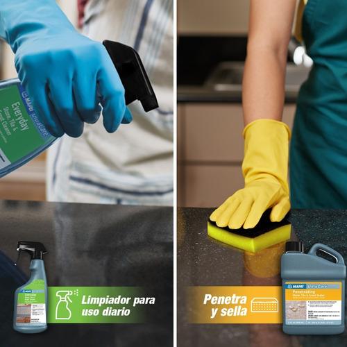 kit limpiador + sellador base agua  para piedras ultracare