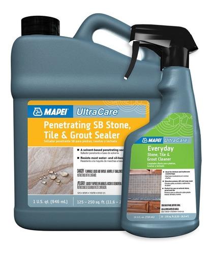 kit limpiador + sellador para cuidado de piedras ultracare
