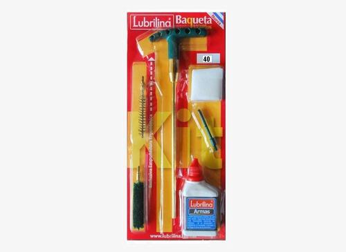 kit limpieza lubrilina arma corta p/calibre .40