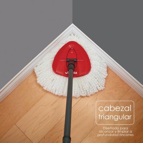 kit limpieza trapeador mop y cubo pedal easy wring vileda