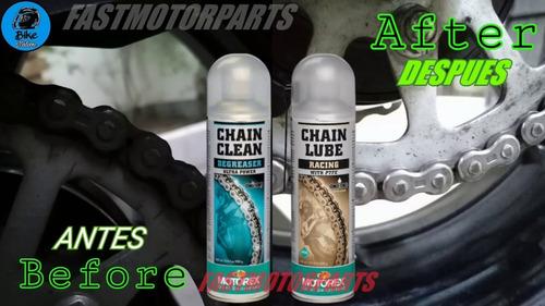 kit limpieza y lubricacion de cadenas de arrastre de motos