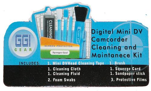 kit limpieza y mtto para cabezales de videocamaras minidv