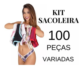 63e69c2d396359 Kit Lingerie 100 Peças Revenda Tanga Sutiã Cueca Atacado