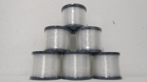 kit linha pesca nylon deyu foison 0,40mm 250g c/ 5 unidades