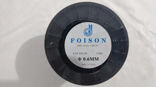 kit linha pesca nylon  foison 0,60mm c/250g 10 unidades