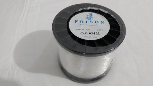 kit linha pesca nylon foison 0,70mm 250g c/ 5 unidades