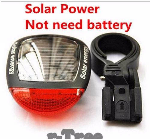 kit linterna bicicleta+soporte+cargador+pila+stop solar