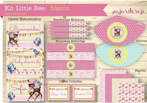 kit little bee rosa