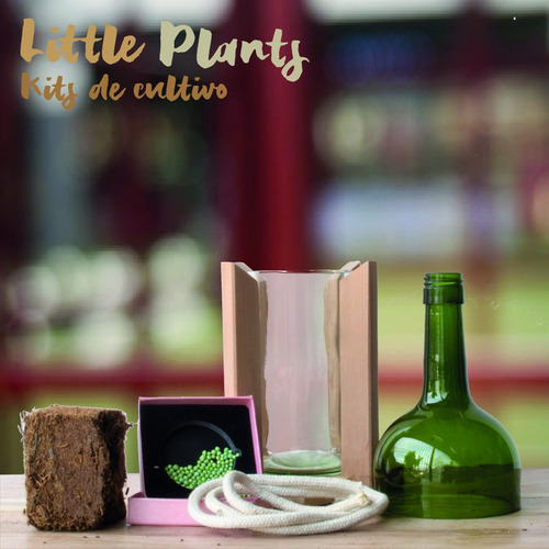 kit little plant 24 con soporte, maceta autorregante