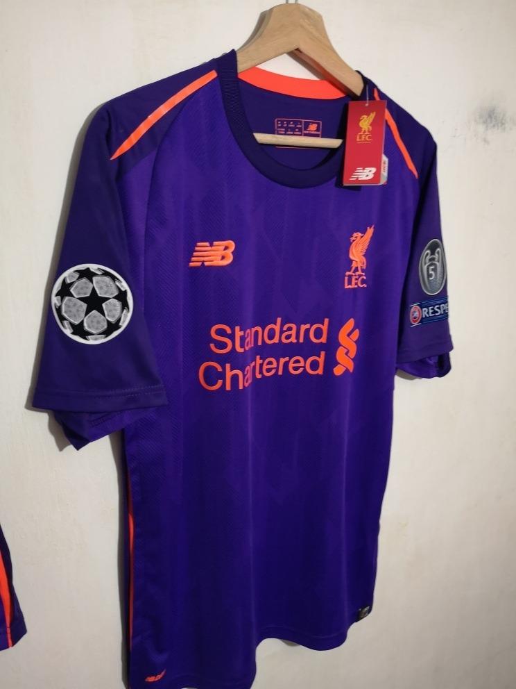 more photos 0ca39 7bfaa Kit Liverpool Visita 2019 Champions League Salah