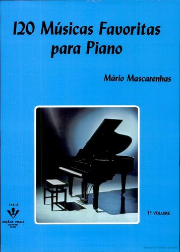 kit livro 120 musicas piano partituras vol. 1,2 e 3 novo