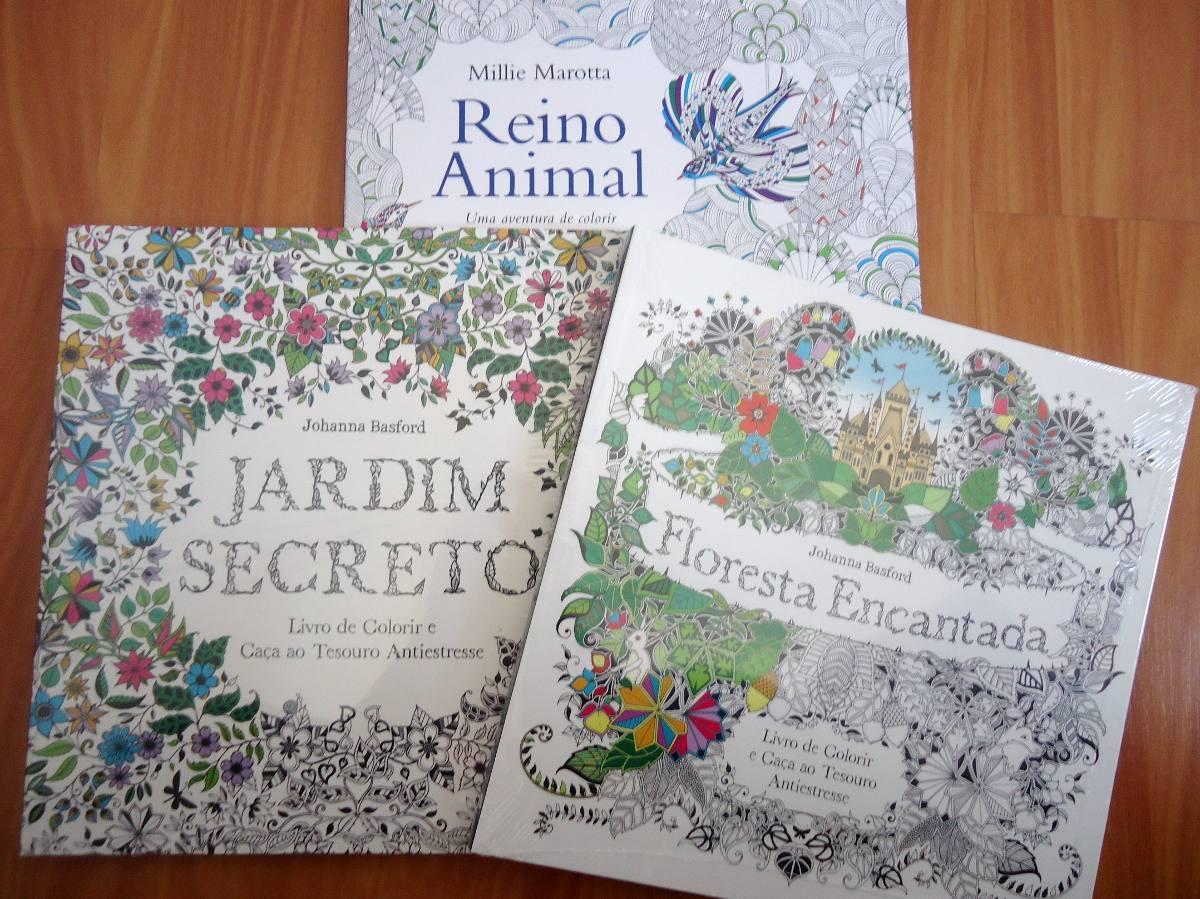 Kit Livro Jardim Secreto Floresta Encantada Reino Animal Cor Carregando Zoom