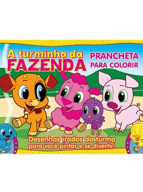 Kit Livro Turminha Da Fazenda Prancheta Para Colorir 10 Un R