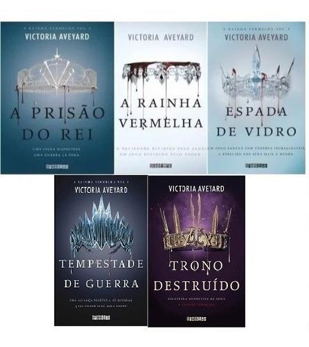 kit livros 1, 2, 3, 4 e trono coleção série rainha vermelha