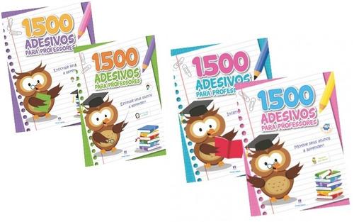 kit livros 1500 adesivos para professores - ciranda cultural