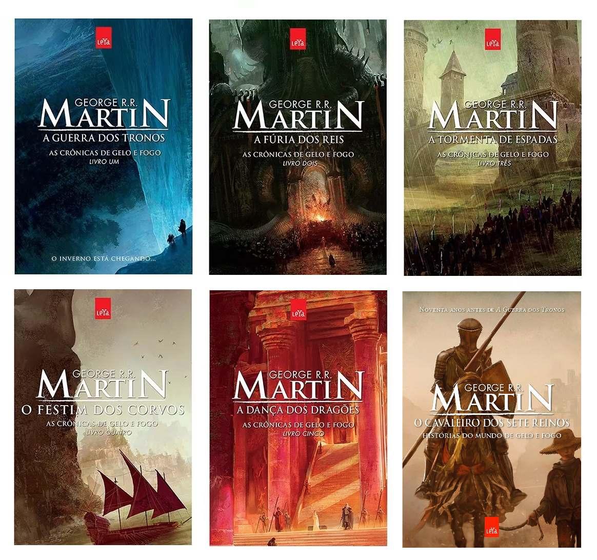 61c317088 kit livros crônicas de gelo e fogo + cavaleiro sete reinos  . Carregando  zoom.