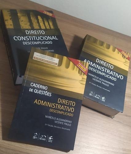 kit livros direito constitucional, administrativo + questões