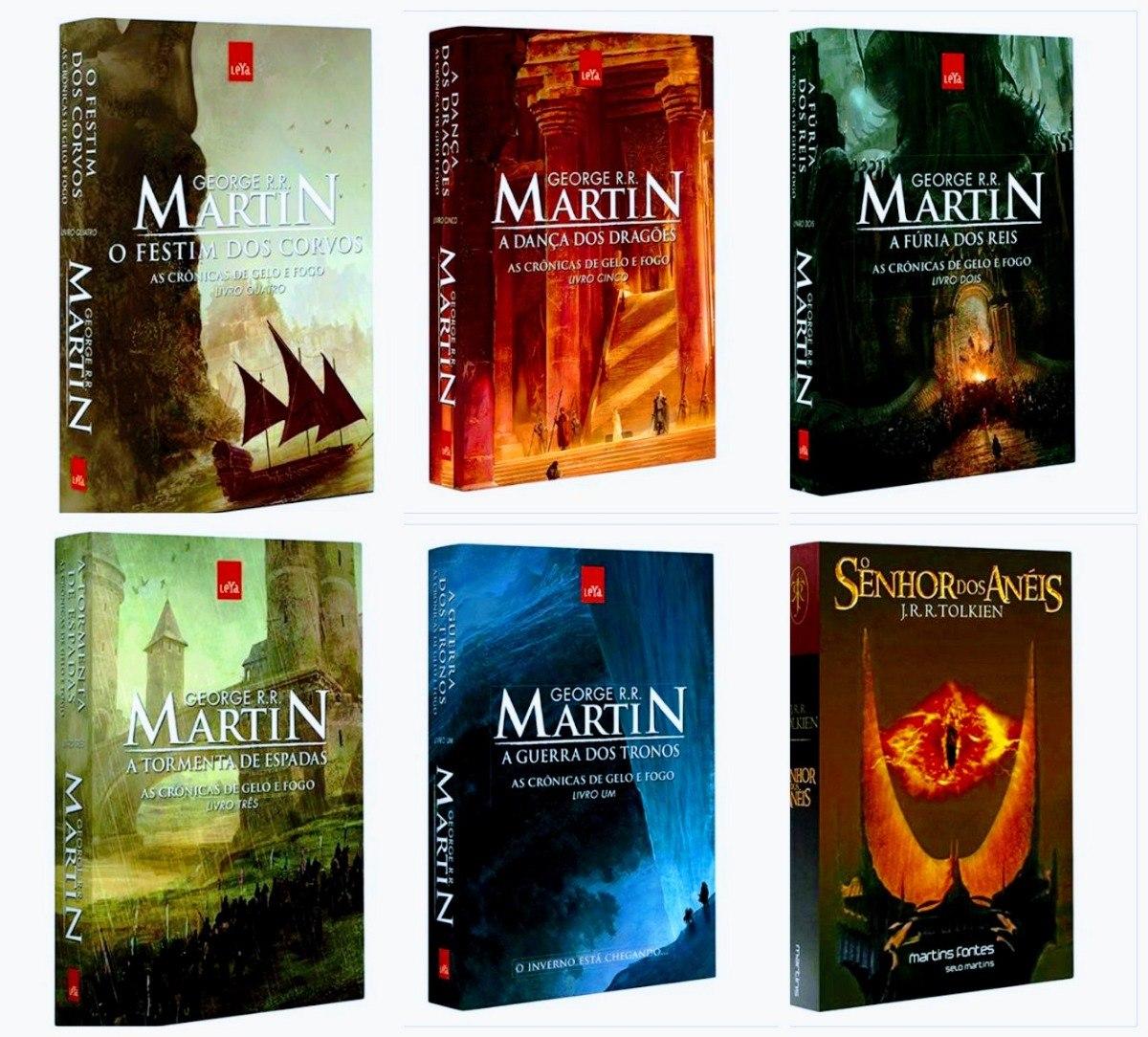 Kit Livros Game Of Thrones Senhor Dos Aneis Lacrados R 218