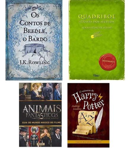 kit livros harry potter ( 4 livros ) animais fantásticos + 3