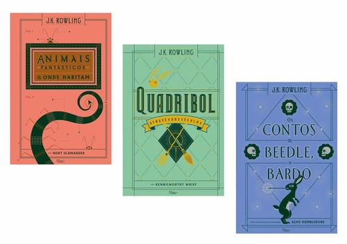 kit livros harry potter - criança + hogwarts + ilustrados !