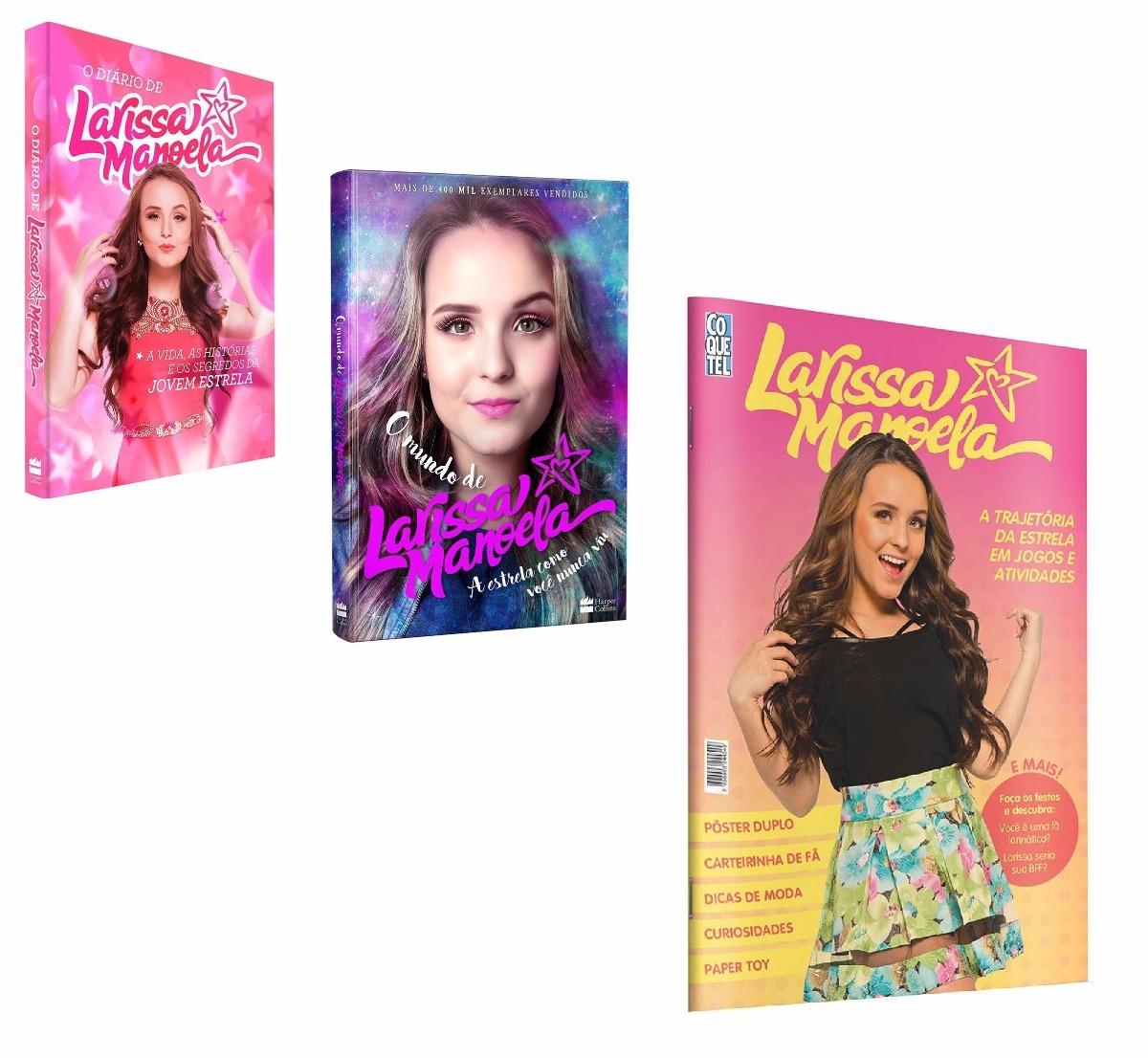 dd699834fb62a Kit Livros Larissa Manoela - Diário + Mundo + Atividades ! - R  86 ...