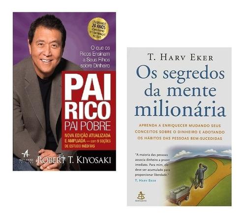kit livros pai rico pai pobre + segredos mente milionária #
