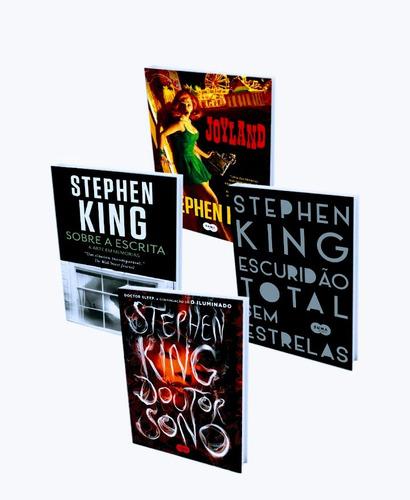kit livros stephen king - 4 livros novos e lacrados