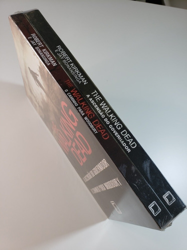 kit livros - the walking dead (2 volumes) - novo - lacrado