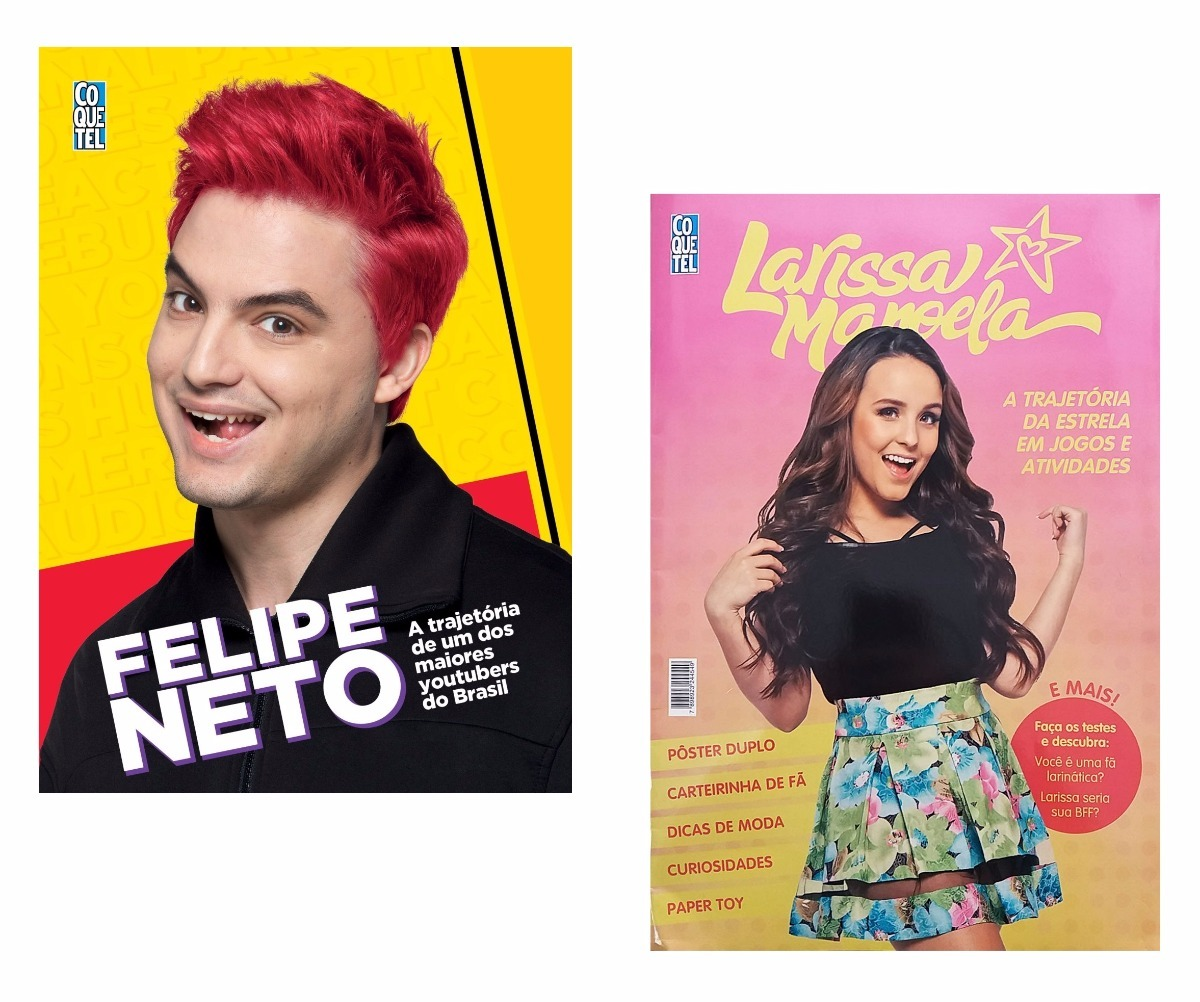 Kit Livros Trajetória Felipe Neto + Larissa Manoela ! - R  51,90 em ... 0bff12a5e4