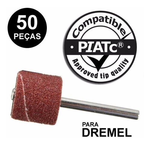 kit lixa p/ micro retifica dremel gr80 1/2  + haste c/50 pcs