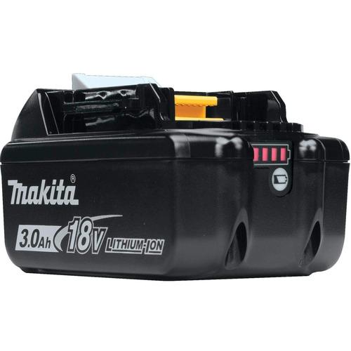 kit lixadeira orbital + bateria + carregador dc18rc makita