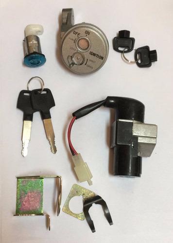 kit llave contacto + tapa tanque  biz 125 solomototeam