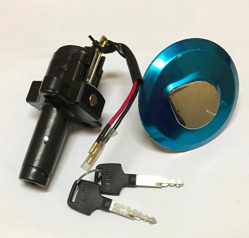 kit llave contacto + tapa tanque tornado 250 solomototeam